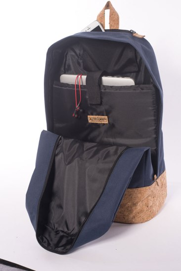 Corked Backpack organized interior