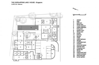 The Overlapping Land/House-Cluny House by Neri&Hu - Basement Floor Plan