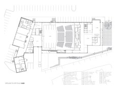 Mont Laurier Multifunctional Theatre by Les architectes FABG - Ground Floor Plan