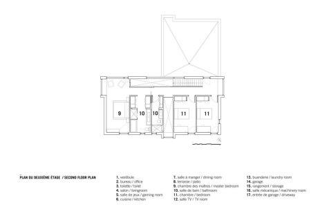 Résidence au Bic by _naturehumaine Second Floor Plan
