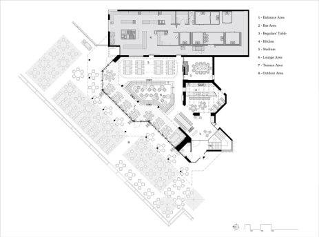 "The ""1893"" – VfB Stuttgart club restaurant by Ippolito Fleitz - Plan"