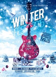 Winter Fest Flyer. Photoshop (PSD) Flyer Template.