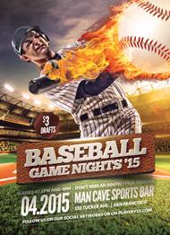 Baseball Game Night Flyer