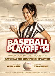 Baseball Playoffs Flyer