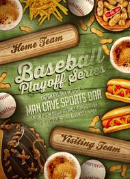 Baseball Playoff Series Flyer