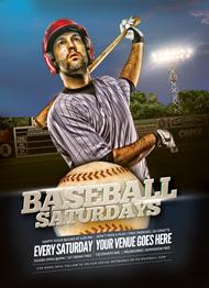 Baseball Saturdays Flyer