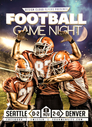 Football Game Night Flyer