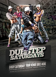 Hip Hop Dubstep Flyer