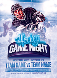 Hockey Game Night Flyer