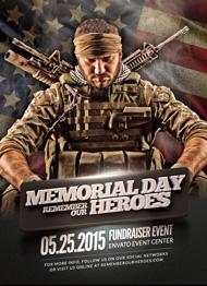 Memorial Day Heroeso Flyer