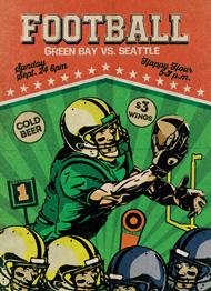 Retro Football 2 Flyer