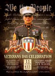 Veteran's Day Salute Flyer