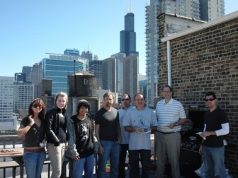 rooftop grilling at design engine