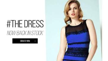 Dressgate - #thedress went viral with over 10 million tweets Image: Roman Originals