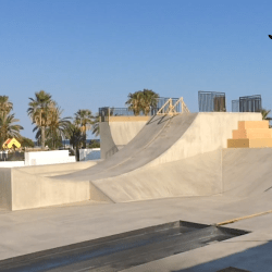 Skate park that was built for the hoverboard in  Cubelles Image: El Patin