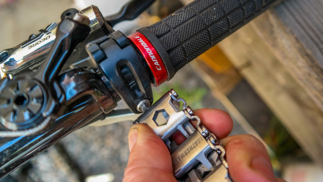 The Leatherman Tread is a great tool for quick fixes