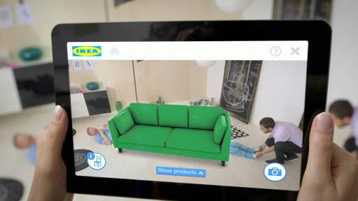Place IKEA furniture in your home with augmented reality Image courtesy of IKEA