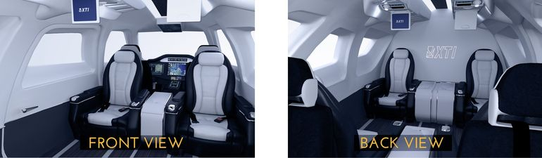 How the inside could potentially look XTI Aircraft