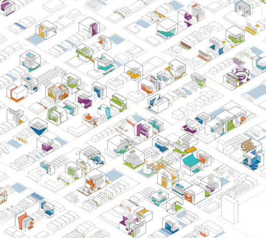 """""""The Available City"""" project would make use of the thousands of empty lots in Chicago. Image: David Brown"""