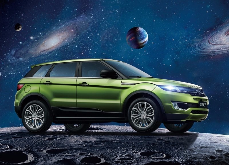 LandWind X7, a knockoff for Land Rover's Evoque SUV sells for about $21,000 Image: LandWind