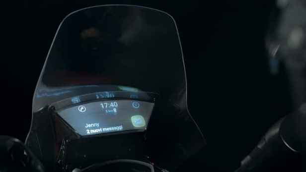 While it's called the Smart Windshield, the projection is displayed beneath the windshield. Image via Yamaha