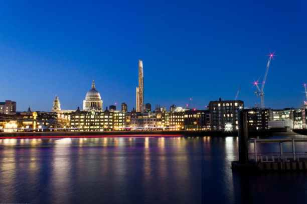 If built, the wooden tower would become the second tallest building in London, after the Shard. Image via University of Cambridge