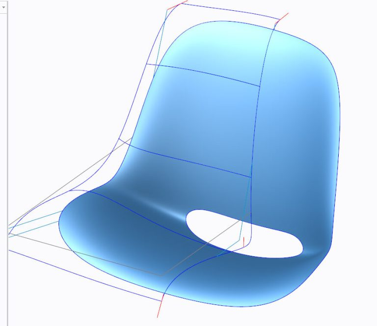Task Chair modeled with respect of light reflections