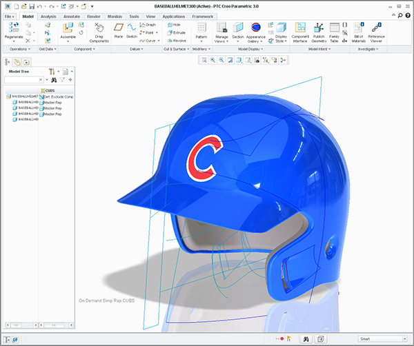 Cubs RH batting helmet
