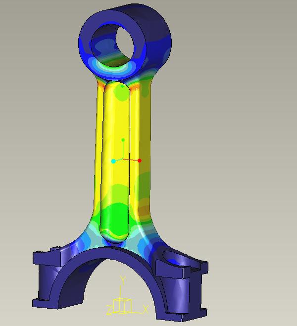 Creo Simulation Piston Rod Analysis