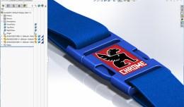Solidworks Chrome bag buckle