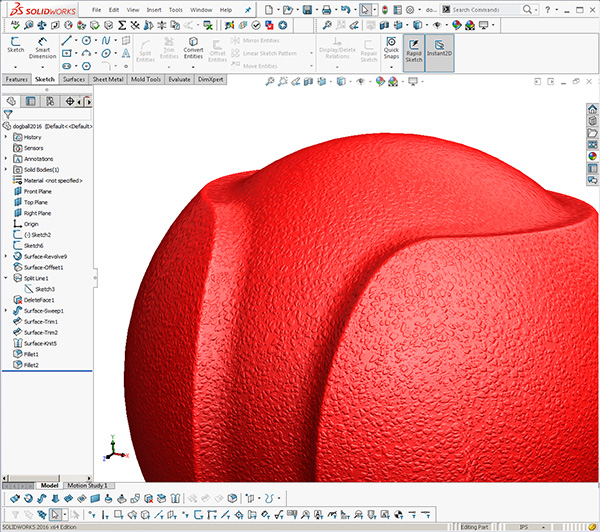 Solidworks JW Dog ball