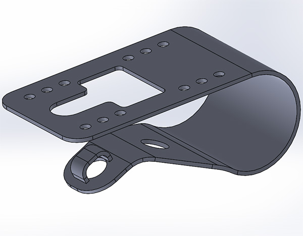 Solidworks spring trucks for a skateboard