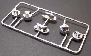 Family Mold of chromed plastic parts