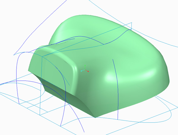 CREO ADVANCED SURFACE MODELING with SURFACE EDIT Harley seat