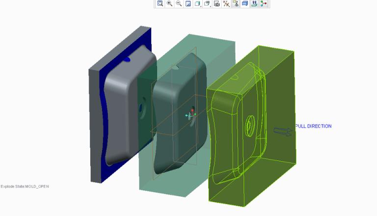 Creo mold design example