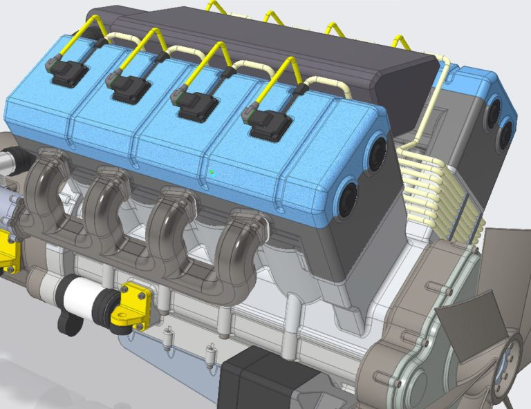 Turbo Diesel Engine Creo 7.0