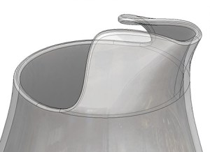 Water pitcher created in Solidworks and used for Clay Bake Challenge webinar