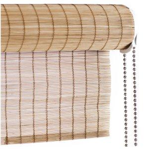 Brun fin bambus rullegardin color co