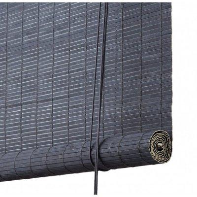Color Co Mørkegrå malet bambus rullegardin