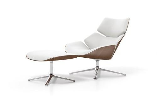 jehs laub lounge chair wheelchair cushion types shrimp armchair by design milk