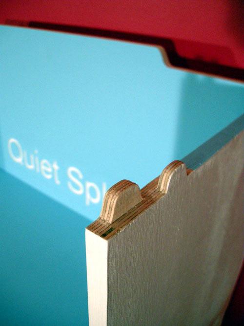 Modular Paint Chip Bookshelf
