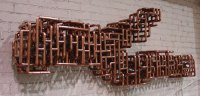Sculptural Copper Tubing Furniture and Art by TJ Volonis