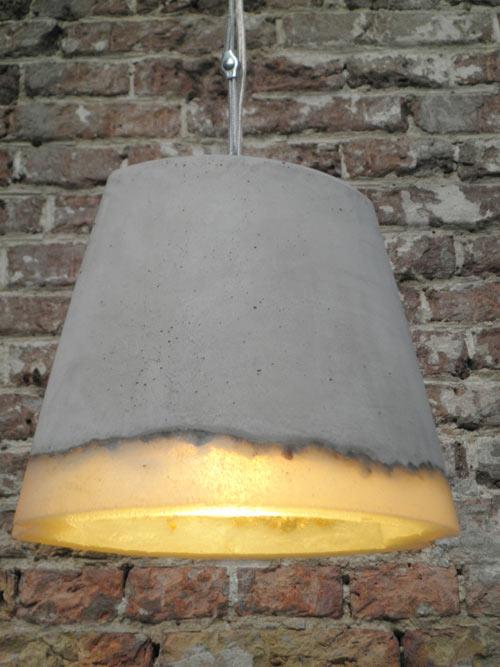 Large Concrete Pendant Light