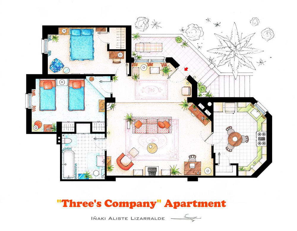 10 Of Our Favorite TV Shows Home Amp Apartment Floor Plans