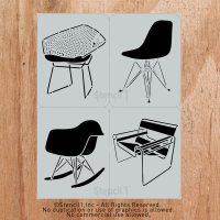 Classic Mid-Century Chair Stencils by Stencil 1 - Design Milk
