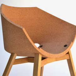 Office Chairs Cork Steel Chair With Pad Corkigami By Carlos Ortega Design Milk