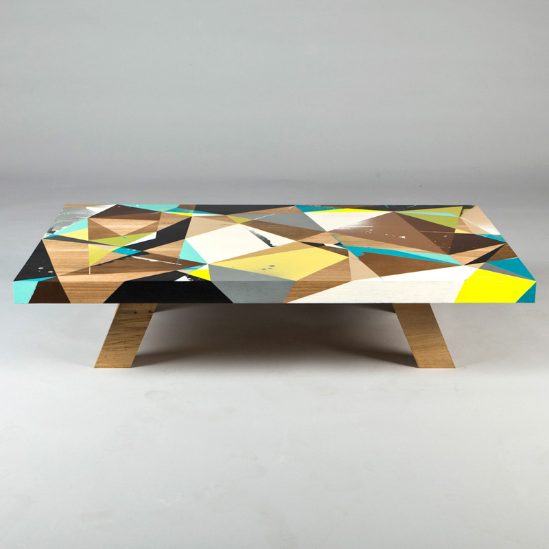 graffiti inspired coffee tables by vans