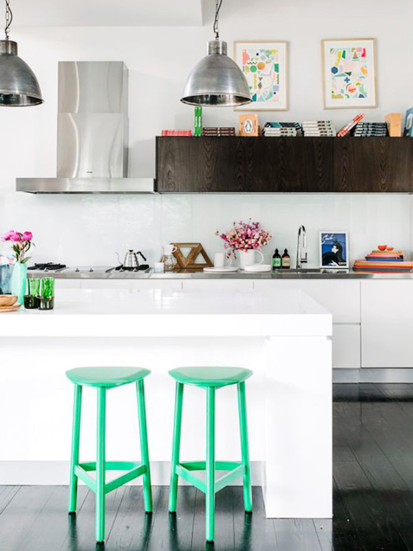 artwork for kitchen apartment size table 12 inspiring ways to hang art in the design milk photo by brooke holm