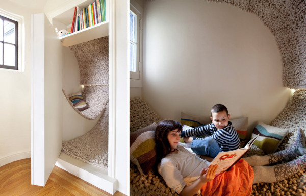 7 Inspiring Kid Room Color Options For Your Little Ones: Reading Nook In Small Bedroom