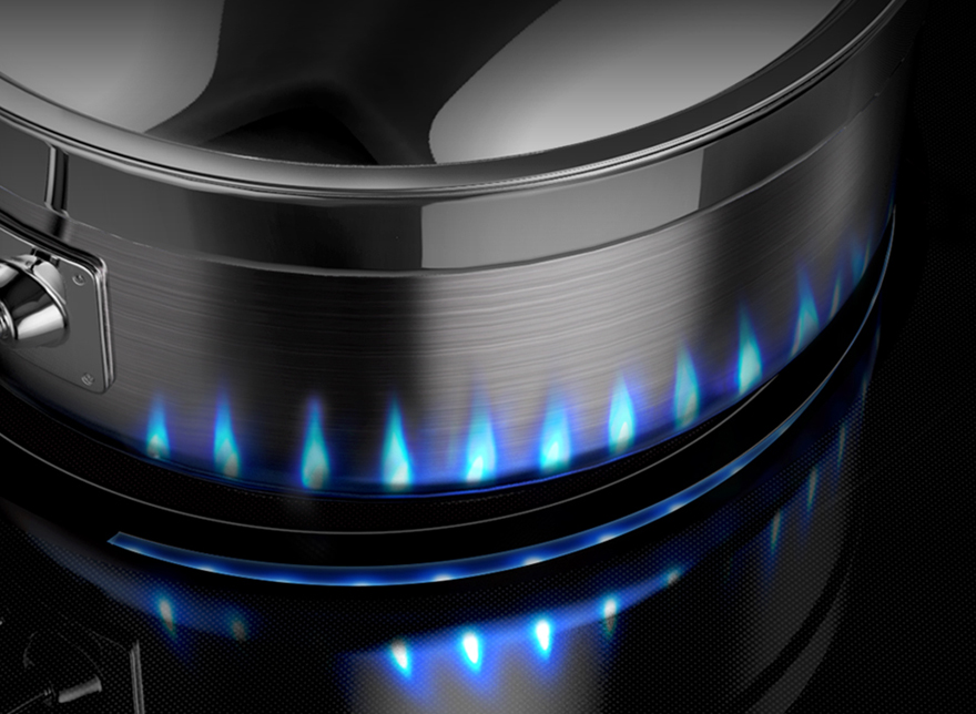Samsung Induction Range Cooks Projects a Virtual Flame